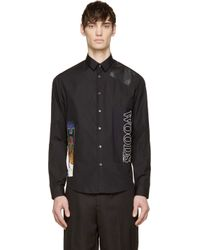 McQ - Black Patch Work Shirt for Men - Lyst