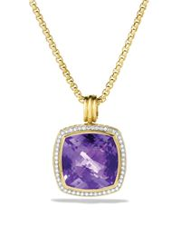 David Yurman | Yellow Albion Pendant With Amethyst & Diamonds | Lyst