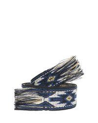 Étoile Isabel Marant - Blue Upton Woven Belt - Lyst