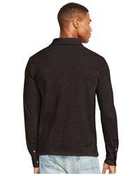 Polo Ralph Lauren - Black Long-sleeved Mesh Estate Shirt for Men - Lyst
