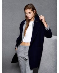 Raey - Blue Slouchy Wool And Cashmere-Blend Coat - Lyst