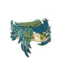 Betsey Johnson   Blue Calypso Alligator Hinged Bangle   Lyst