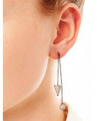 Elise Dray | Metallic Diamond & Gold Muse Chain Earrings | Lyst