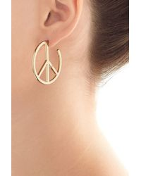 Marc By Marc Jacobs - Metallic Disc-o Peace Out Hoop Earrings - Gold - Lyst