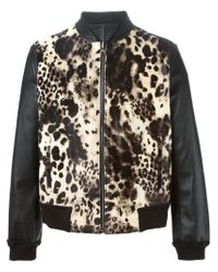 Roberto Cavalli - Black Reversible Bomber Jacket for Men - Lyst