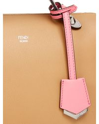 Fendi - Brown By The Way Contrast Leather Cross-body Bag - Lyst