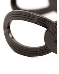 Rebecca - Black 'elizabeth' Circle Link Cuff - Lyst