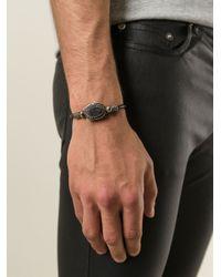 Saint Laurent   Black Concho Style Bracelet for Men   Lyst