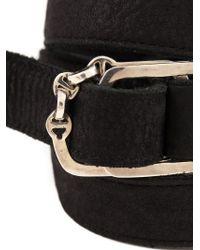 Hoorsenbuhs - Black Buckled Triple Wrap Bracelet - Lyst