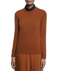 Michael Kors - Brown Cashmere Crewneck Knit Sweater - Lyst