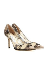Jimmy Choo - Natural Agnes Lace Pumps - Lyst