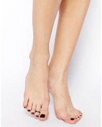 ASOS | Metallic Floral Toe Ring | Lyst