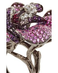 Wendy Yue | Amethyst And Pink Sapphire Flower Ring | Lyst