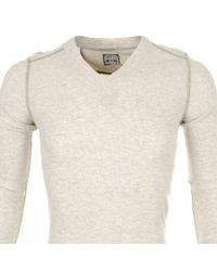 DIESEL - Natural T Ise S T Shirt Cream Marl for Men - Lyst