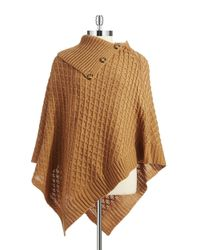 Lord & Taylor | Natural Basket Weaved Poncho | Lyst