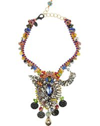 Erickson Beamon | Orange Fashion Tribe Gold-plated Swarovski Crystal Necklace | Lyst