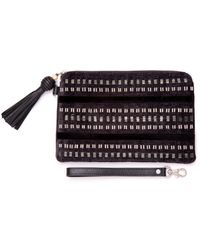 TOMS - Black Beaded Stripe Party Pouch - Lyst