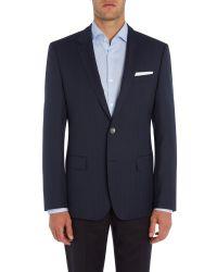 BOSS - Blue Hutsons Herringbone Jacket for Men - Lyst