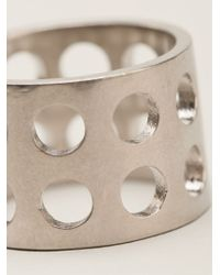 Kelly Wearstler - Metallic Perforated Ring - Lyst