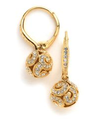 Nadri | Metallic Petals Shaky Earrings | Lyst