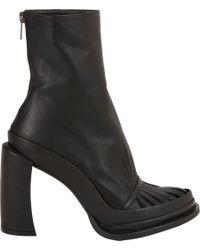 Ann Demeulemeester - Black Cutoutvamp Platform Ankle Boots - Lyst