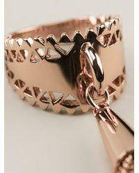 Eddie Borgo | Pink Chain Tassel Ring | Lyst