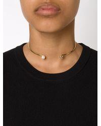 Nektar De Stagni   Metallic Pearl Detail Choker   Lyst