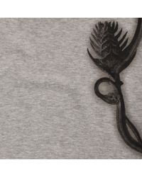 Alexander McQueen - Gray Floral Harness Print T-Shirt for Men - Lyst