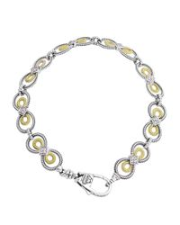 Lagos | Metallic Soiree Double-oval Link Bracelet | Lyst