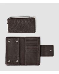 AllSaints | Purple Paradise Japanese Leather Wallet | Lyst