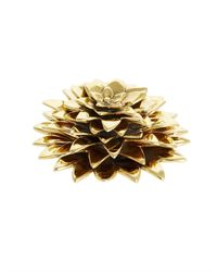 Oscar de la Renta - Metallic New York Botanical Garden Dahlia Brass Paperweight - Lyst