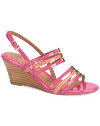 Söfft | Pink Posh Wedge Sandals | Lyst
