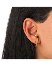 Vita Fede | Metallic Comma Earring With Crystal Ball | Lyst