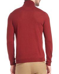 Saks Fifth Avenue - Purple Musso Virgin Wool Turtleneck Sweater for Men - Lyst