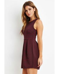 Forever 21 | Purple Striped A-line Dress | Lyst
