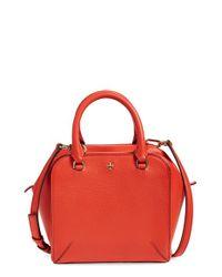 Tory Burch | Orange 'mini Robinson' Leather Satchel | Lyst