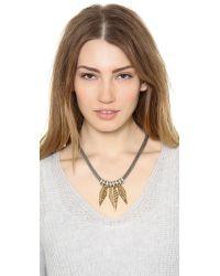 Rebecca Minkoff - Metallic 3 Open Blade Necklace - Lyst