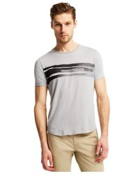 Kenneth Cole Reaction | Gray Print Crew-neck T-shirt for Men | Lyst
