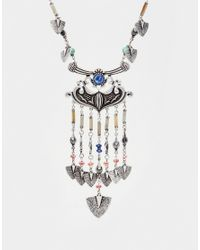 ASOS | Multicolor Speared Charm Necklace | Lyst