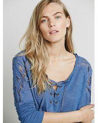 Free People - Blue Womens Jennie Tee - Lyst