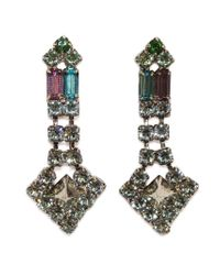 Tom Binns | Black Drop Crystal Pyramid Earrings | Lyst