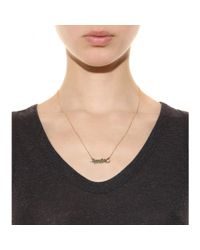 Marc By Marc Jacobs - Metallic Script Snake Necklace - Lyst