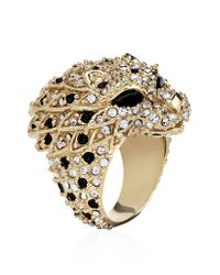 Saint Laurent - Metallic Lion Head Ring - Lyst
