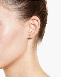 Rosa De La Cruz | Pink 18K Gold And Diamond Earrings | Lyst