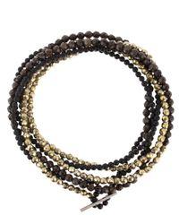 Brunello Cucinelli - Metallic Beaded Multi-strand Necklace - Lyst