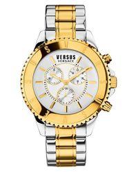 Versus | Metallic 'tokyo' Chronograph Watch for Men | Lyst