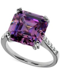 Arabella | Purple And Clear Swarovski Zirconia Ring In Sterling Silver (16-1/4 Ct. T.w.) | Lyst
