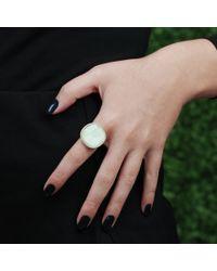 Monique Péan | Metallic Cream Walrus Ivory Ring | Lyst