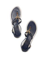 Tory Burch - Blue Toggle Flat Sandal - Lyst