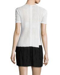 Thakoon - Black Crocheted Ruffle-skirt Dress - Lyst